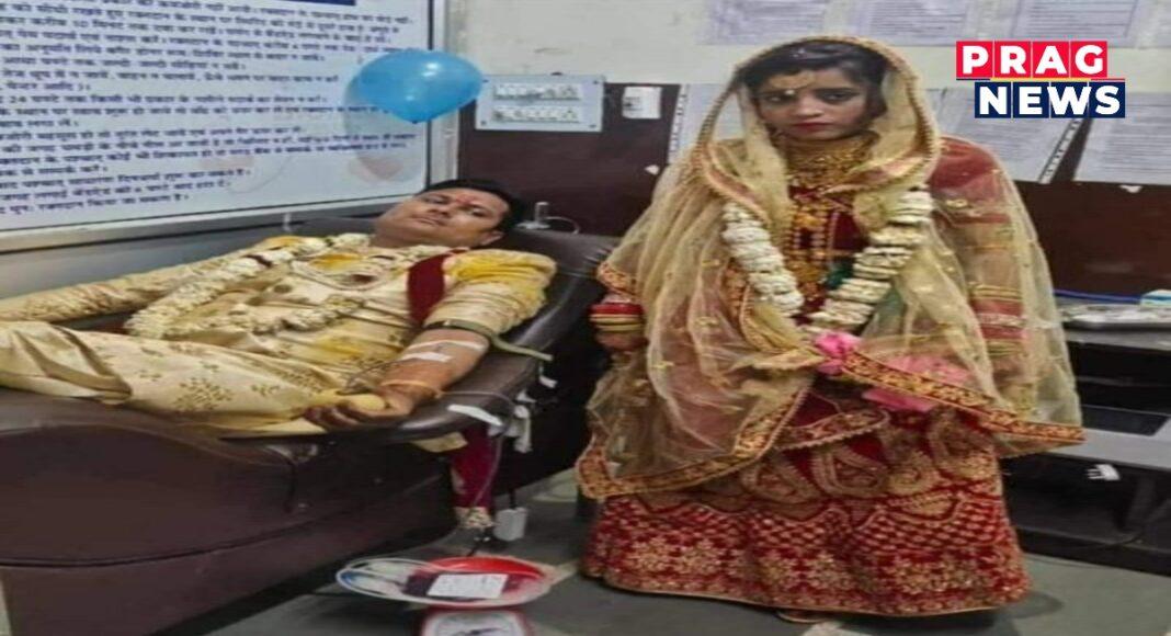 blood donate bride