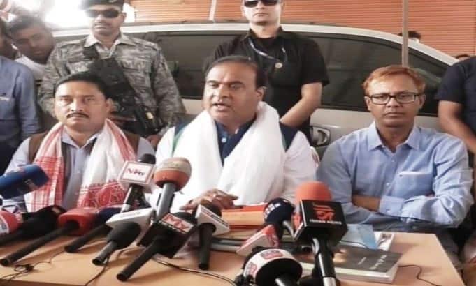 Shiladitya and Himanta press conference
