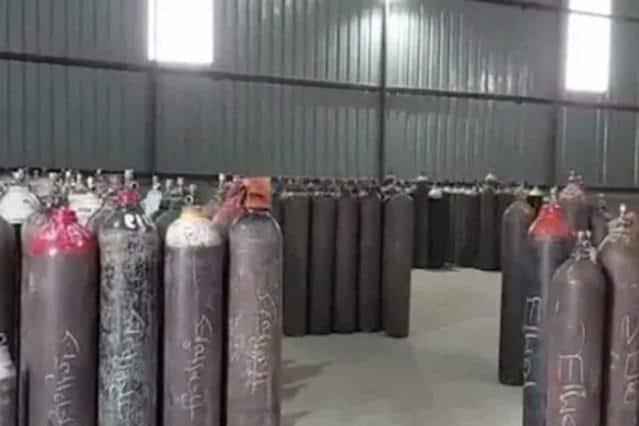 Empty Oxygen Cylinder