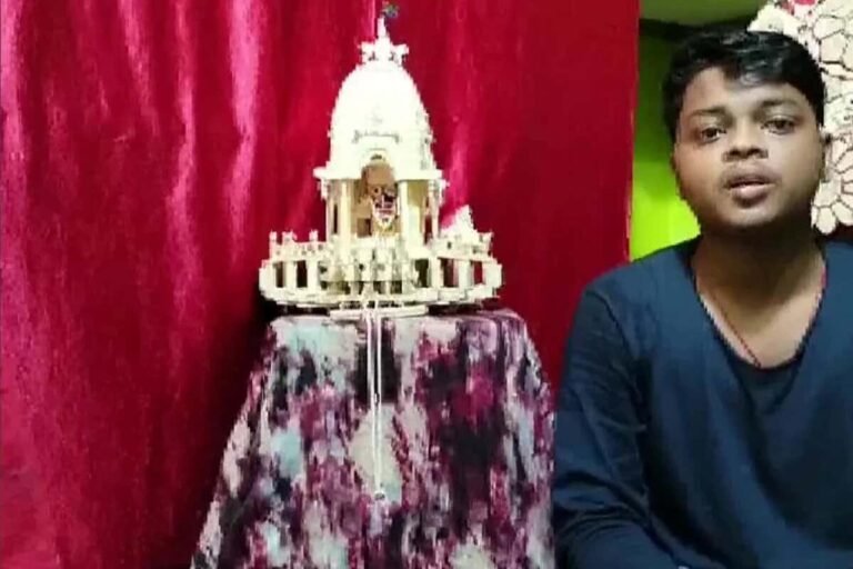 Odisha boy creates miniature Chariot Ahead of Rath Yatra